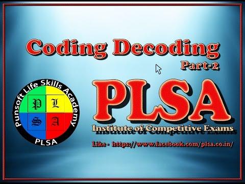 Coding Decoding Part 2 PLSA