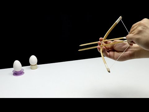 Making The SIMPLEST Mini Crossbow Using Only 3 Main Materials! Eggxcelent Shot!