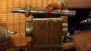 Токарный станок  ч3  Изготовление передней бабки.  Making Headstock Lathe