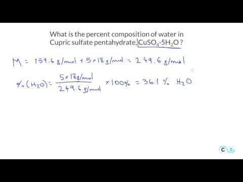 Percent Composition: Practice Problem 3 - CuSO4-5H2O