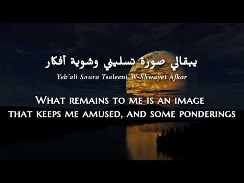 Najwa Karam - Sahrani (Lebanese Arabic) Lyrics + Translation - نجوى كرم - سهرانة