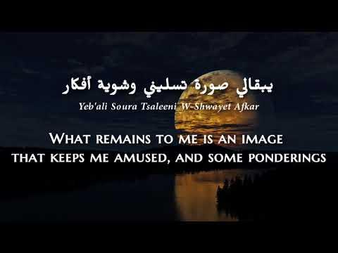 Najwa Karam - Sahrani (Lebanese Arabic) Lyrics + Translation - نجوى كرم - سهرانة