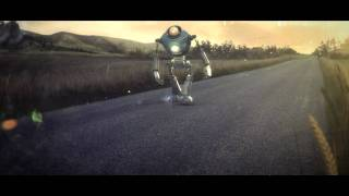 Robot Walking and Fiat 500 (watch in HD)