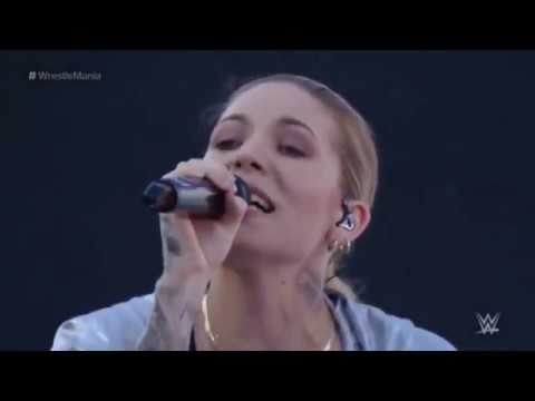 WWE WrestleMania 31   Skylar Grey & Kid Ink w  Travis Barker Musical Performance