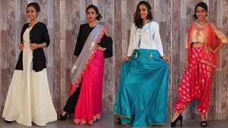 How to Mix & Match Indian Fashion Outfits - IndoWestern Style