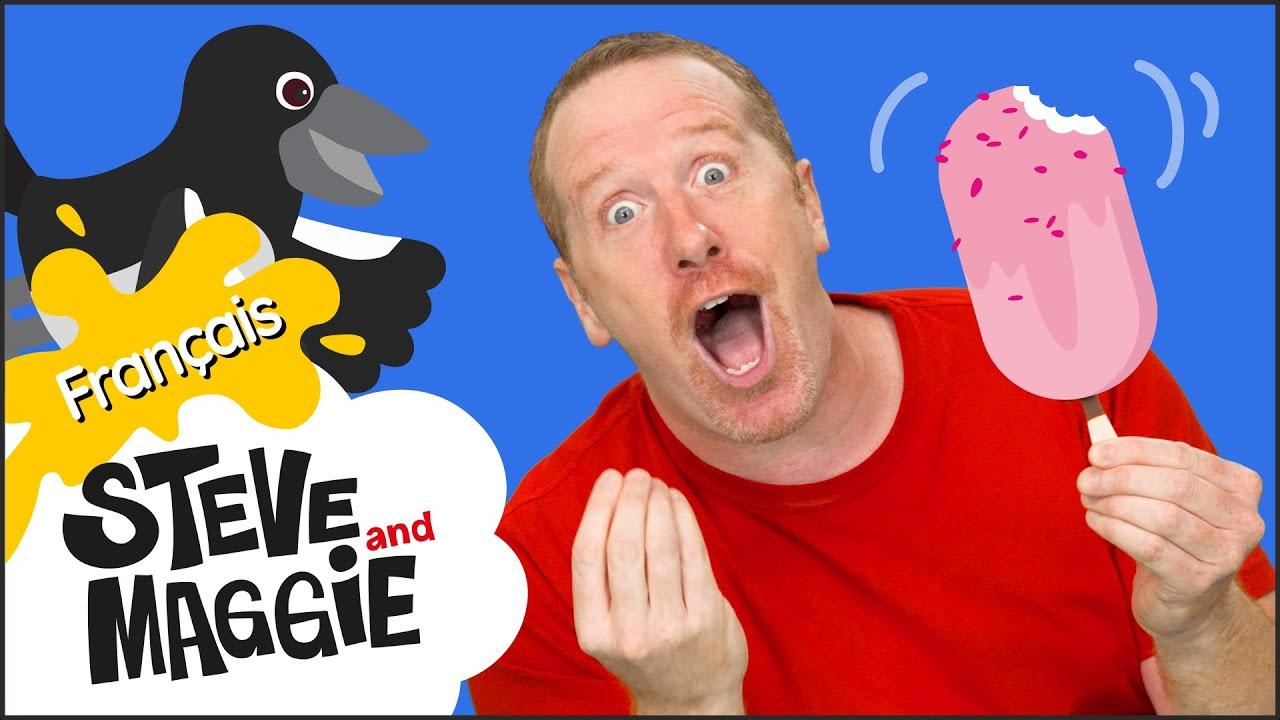 Download De la glace et de bons aliments de Steve et Maggie Français | Des fruits pour les enfants