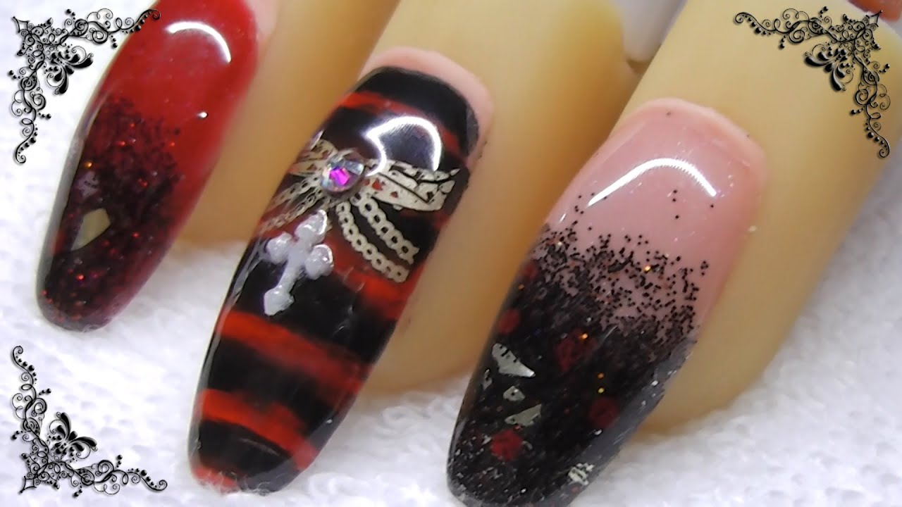 Uñas Nails Gothic 2014
