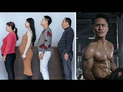 Chinese Family Spends 6 Months Working Out, And Here Are Their Before-And-After Pics!!