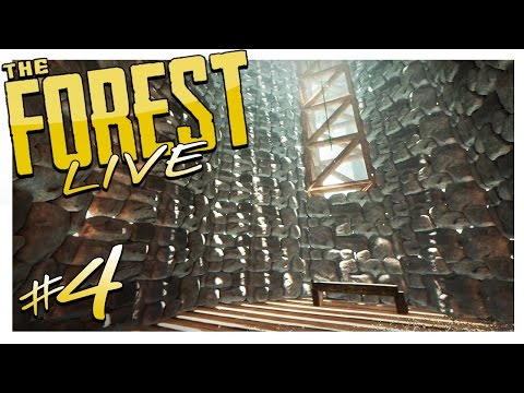 EAST TOWER IS LOOKING GOOD | The Forest Live Gameplay #4 (Alpha v0.59)