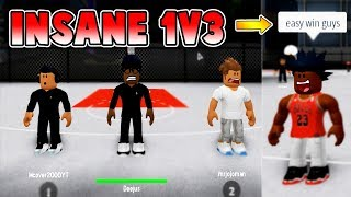 WE LOST A 1v3?!! (ft. JoeyDaPlayer, JoshPlays) | RB World 2 (NBA 2k18 in Roblox)