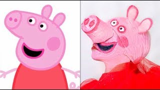 TURNING MYSELF INTO PEPPA PIG!