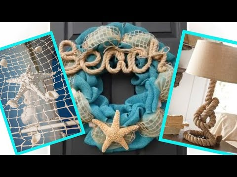 Nautical style and coastal interior style, and beach inspired summer decor