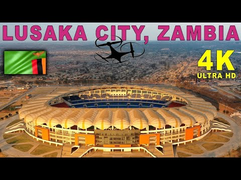 Lusaka City, Zambia By Drone. Cairo Road & National Heroes S