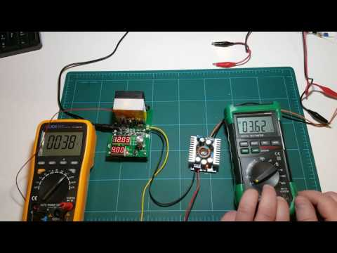 Testing 60W digital constant current load and DC-DC converter