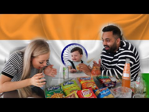 MY WIFE AND SON TRYING INDIAN SNACKS 😱 - The Modern Singhs