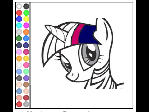 Colouring Pages For My Little Pony : My little pony coloring pages for girls youtube