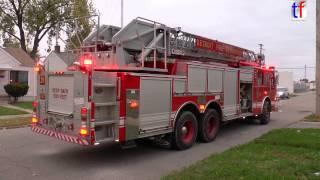 Detroit Fire Department, Ladder 25 (Spare 19) Responding & On Scene, Still Alarm, 2014.