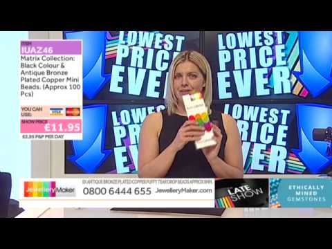 Green & Fuchsia Fire Agate on The Late Show (JewelleryMaker) LIVE 20/05/2015/