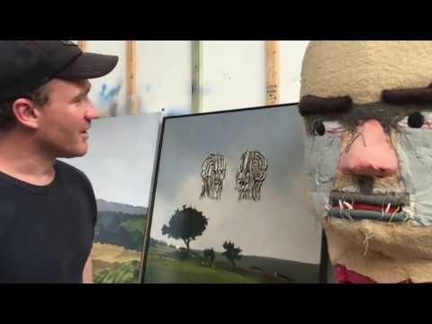 Artist Alan Jones Talks With Maria Stoljar In His Studio