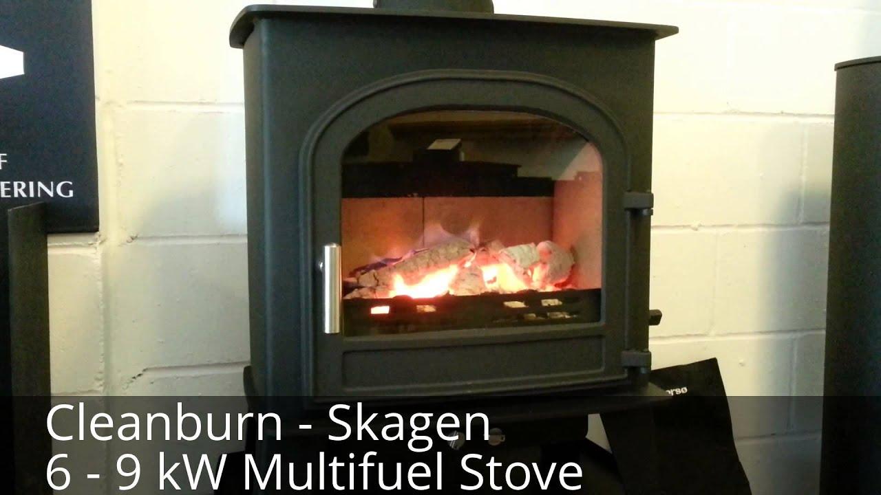 cleanburn skagen on live display at orionheating co uk takeley