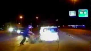 Lubbock Crazy Close Call Drunk  Kelt Crash Officer Standefer Saves Lady Dash Cam Texas