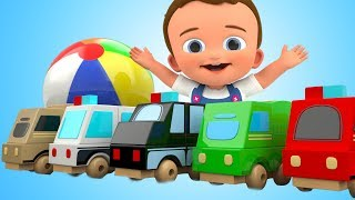 Learn Colors for Children with Baby Learning Vehicles Toys 3D Kids Toddler Educational Videos
