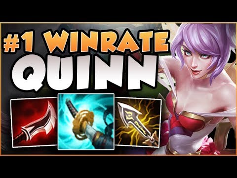 WTF! NEW QUINN IS #1 WINRATE IN 3 DIFFERENT ROLES?? QUINN SEASON 8 TOP GAMEPLAY! - League of Legends