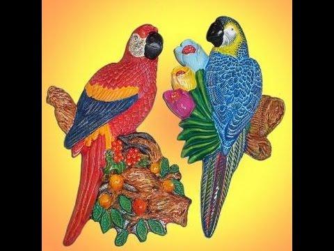 Como Pintar Guacamaya En Ceramica 2 Parte Youtube