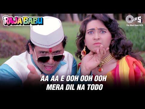 Aa Aa Eee Oo Ooo Mera Dil Na Todo - Raja Babu | Govinda & Karishma Kapoor | Abhijeet