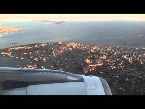The Most Beautiful City  Istanbul 2015   Turkish Airlines landing at Istanbul Atatürk Airport HD