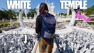 BEAUTIFUL AND WEIRD WHITE TEMPLE - Chiang Rai, Thailand