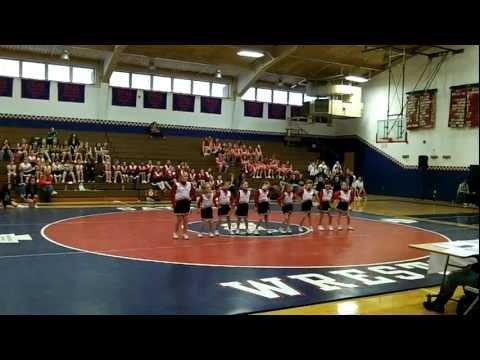 Sayre Redskin Cheerleaders Dance...