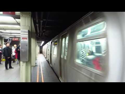 NYC Subway: Rerouted Brooklyn bound R160 F Train entering 57 St-7 Av