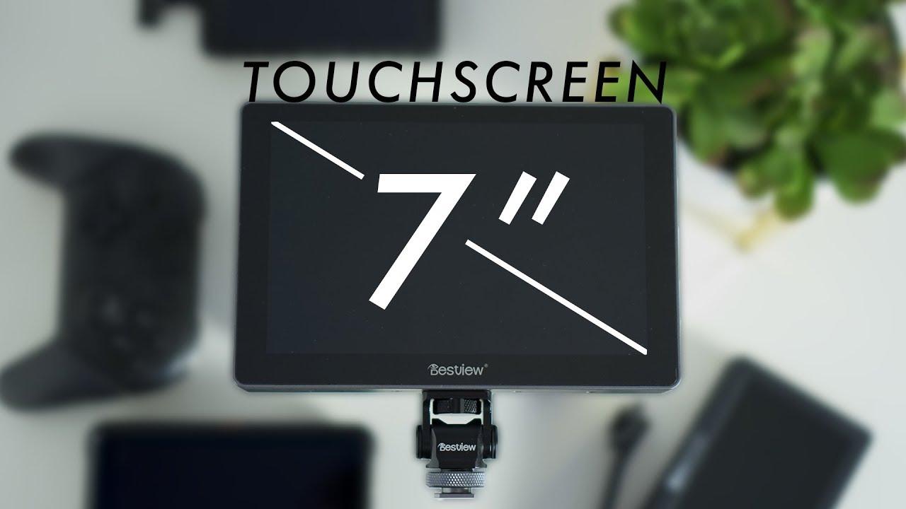 Mugast Bestview R7 Professional LCD Monitor Camera HD 7inch Portable Touch Screen Monitor of 1000 nit High Brightness Compatible with SLR//Mirrorless Camera//Pocket Camera