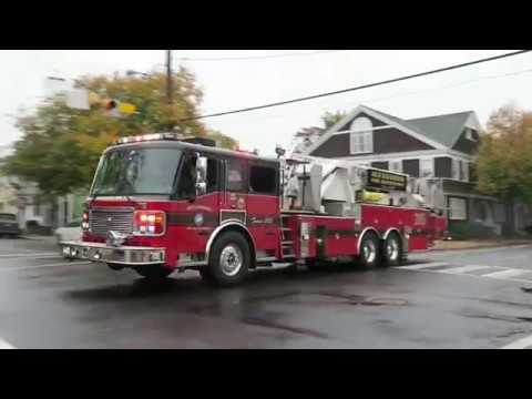 Engine and Tower 205 Responding | Alexandria Fire Department