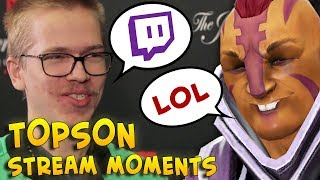Topson INVOKER STREAM with voice — with LOL FUN Anti-Mage