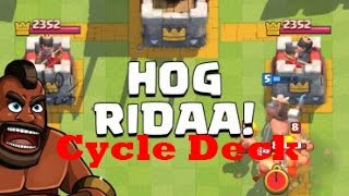 clash royal   cheap hog cycle deck road to 4000