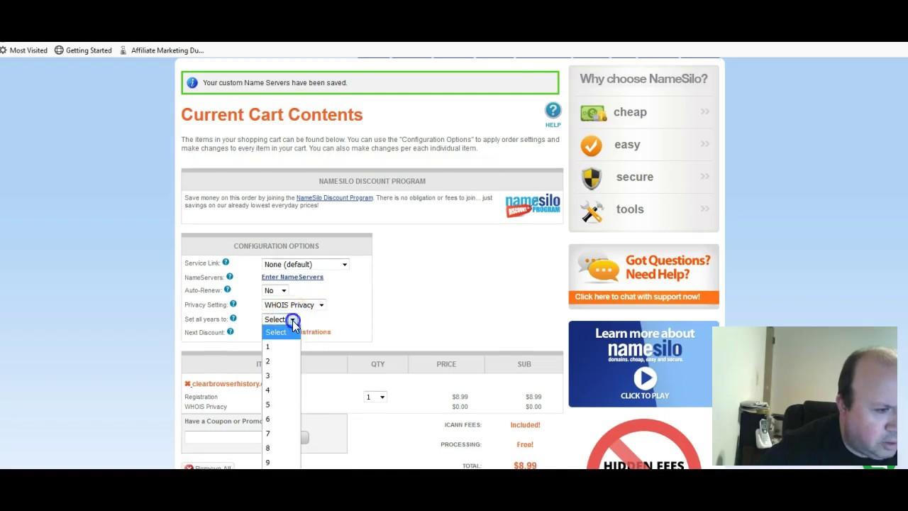 Buy a domain from NameSilo com - YouTube
