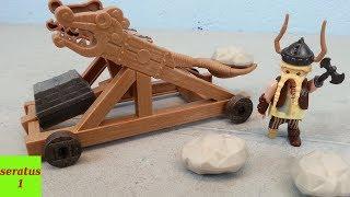 Playmobil Dragons Grobian mit Katapult 9245 auspacken seratus1