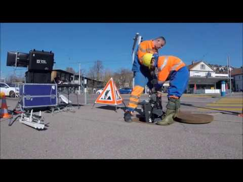 Tactile Inspection of Concrete Deterioration in Sewers with Legged Robots