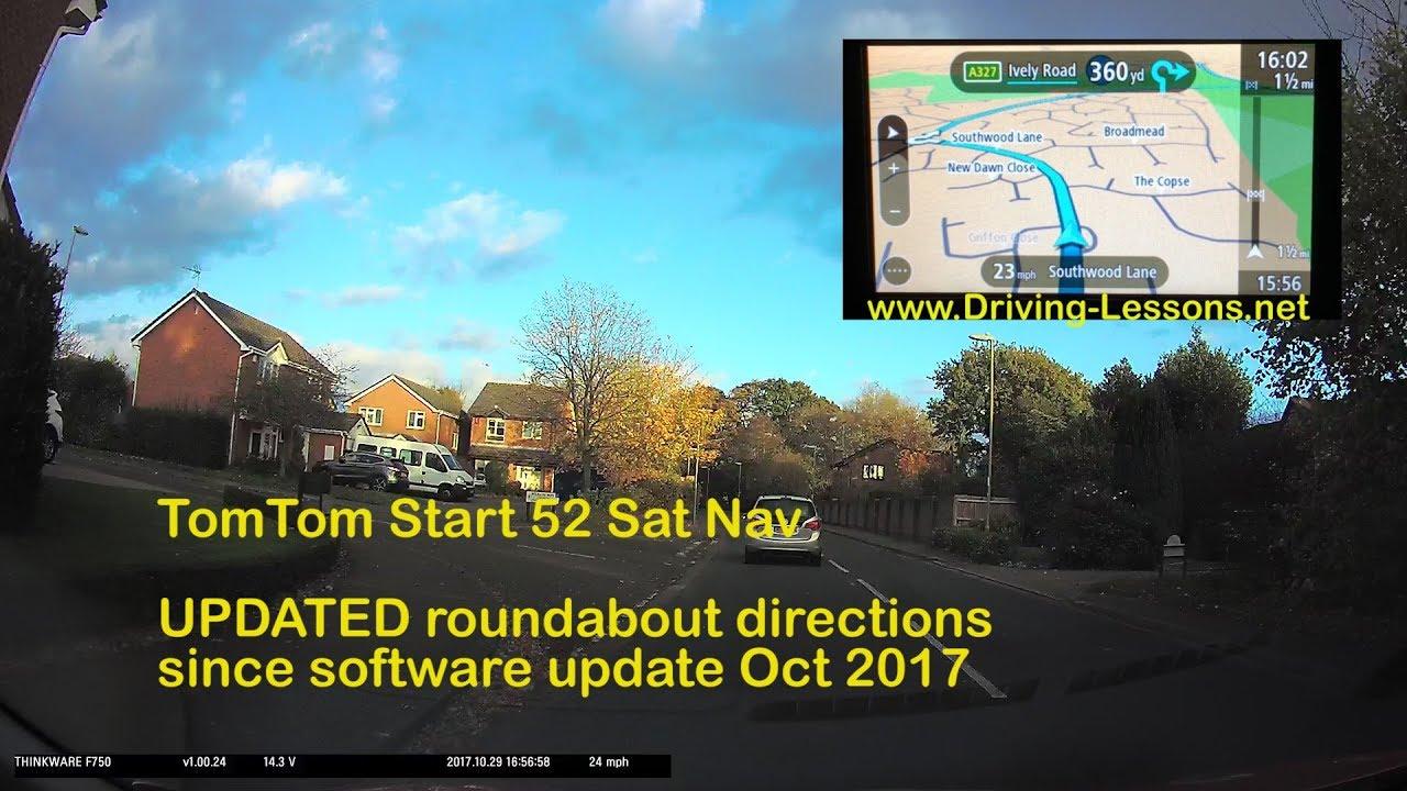 tomtom start52 satnav updated roundabout instructions october 2017 youtube. Black Bedroom Furniture Sets. Home Design Ideas