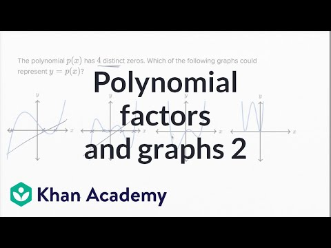 Polynomial Factors And Graphs — Harder Example | Math | New SAT | Khan Academy