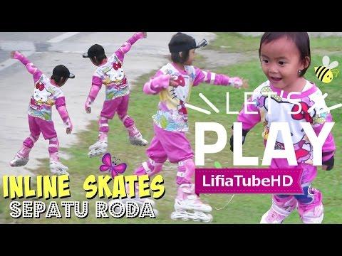 Lifia Niala main sepatu roda anak roller skate inline skate di taman