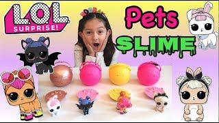 LOL Surprise Pets Series 3 Slime!!!!!!! Golden Ball Slime!!!