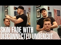 How to Style: Skin Fade with Disconnected Undercut Haircut Tutorial by Kieron the Barber