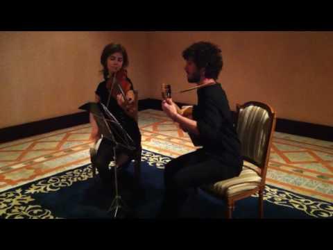 Aljafería de Zaragoza, Actuación Violín- Guitarra Barroca