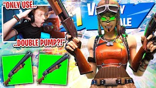 I got 100 PROS to scrim with DOUBLE PUMP SHOTGUN for $100 in Fortnite... (it's back)