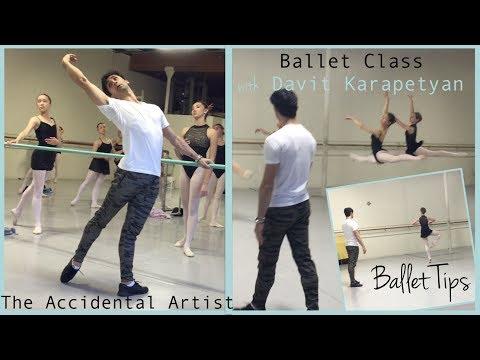Ballet Class with Davit Karapetyan, former Principal Dancer San Francisco Ballet. Ballet Tips Barre