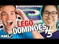 Crazy LEGO Domino Topple w/ Hevesh5! (73,000 LEGO BRICKS!) – REBRICKULOUS