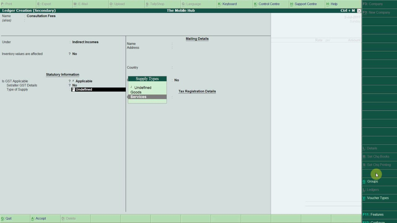 GST in Tally ERP 9 Release 6 - Service Invoice Entry - YouTube